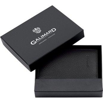 PORTE-CARTES CUIR GALIMARD - NOIR