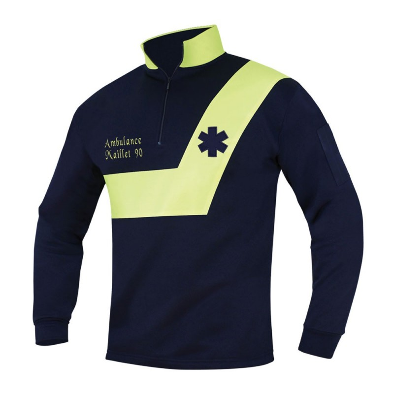 SWEAT AMBULANCE - JAUNE