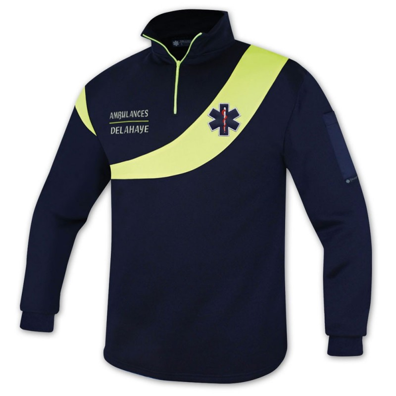 SWEAT AMBULANCE EVOLUTION JAUNE