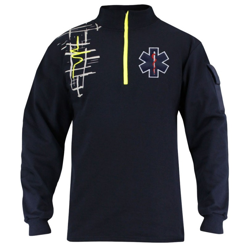 SWEAT AMBULANCIER DESIGN JAUNE