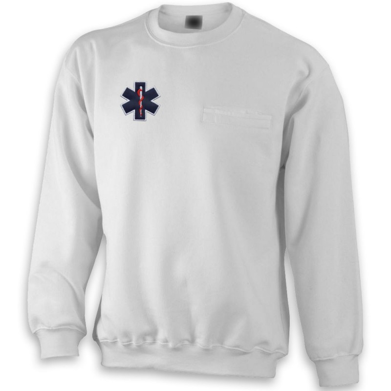 SWEAT WORKWEAR POCHE HOMME - BLANC