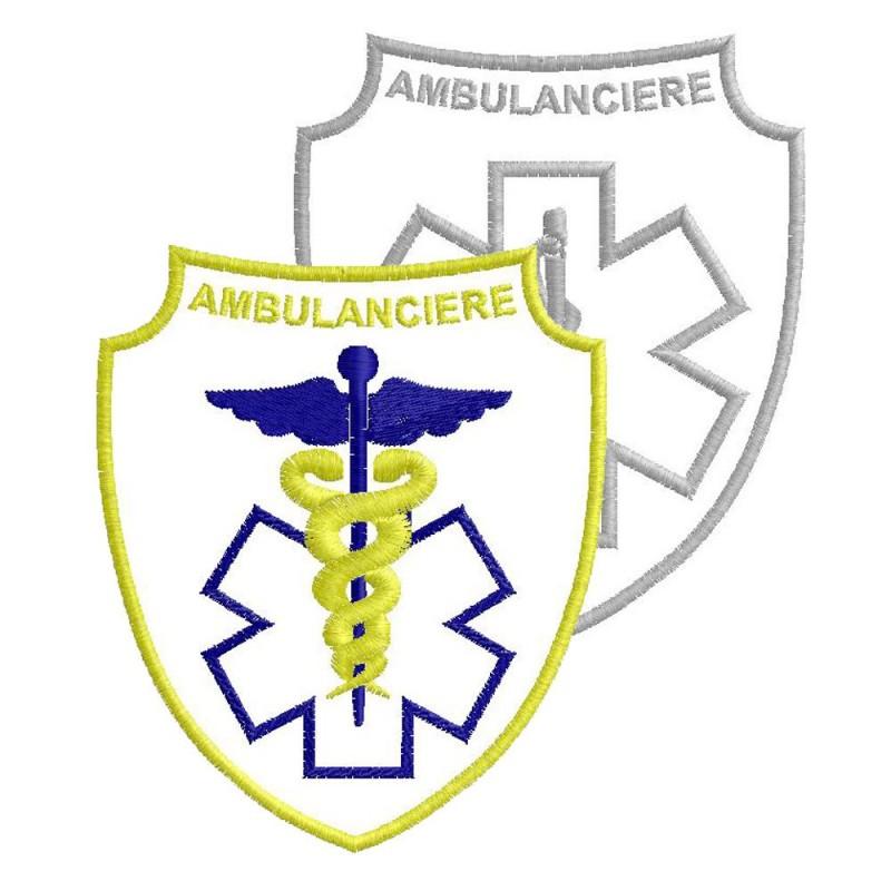ECUSSON BLANC AMBULANCIÈRE - 8 MODELES
