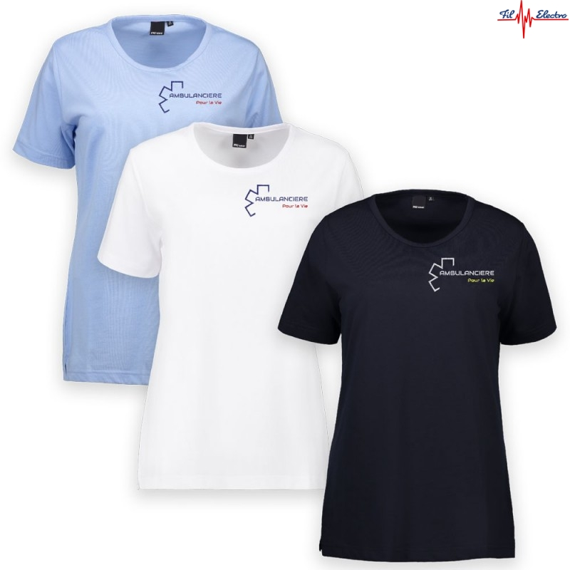 TEE-SHIRT AMBULANCIERE CROIX