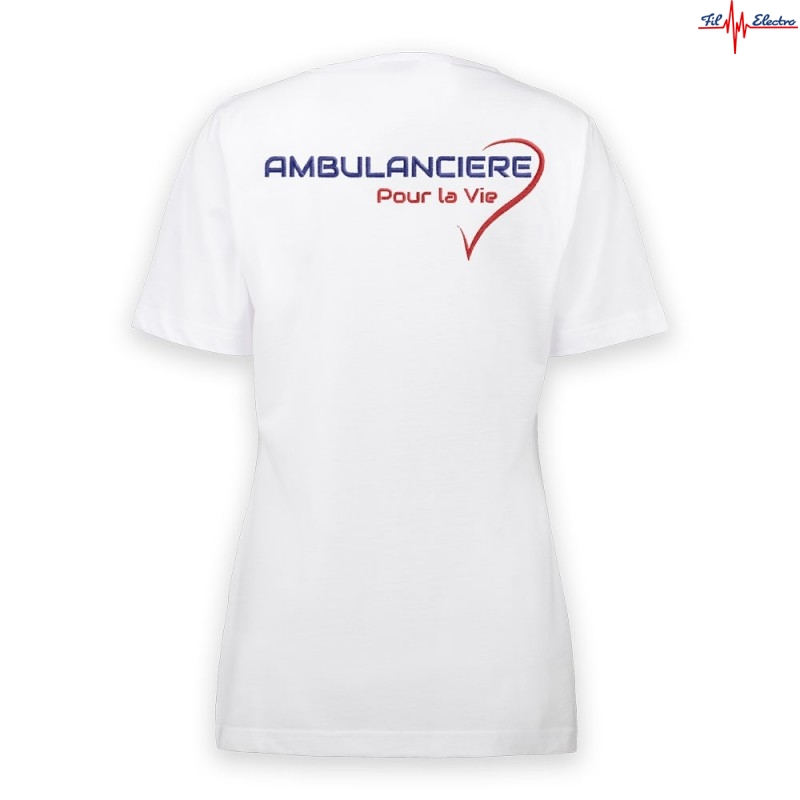 TEE-SHIRT AMBULANCIERE COEUR