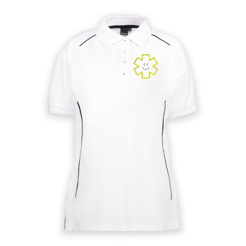 POLO PROWEAR PIPING BLANC - FEMME