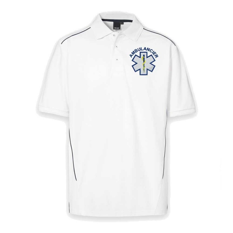 POLO PROWEAR PIPING BLANC - HOMME