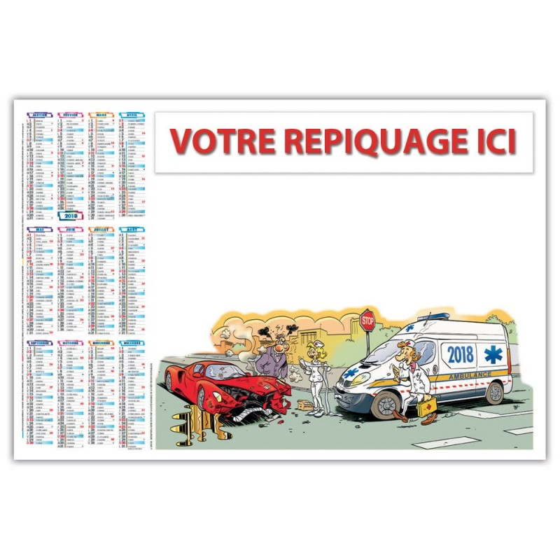 AMBULANCIER - SOUS-MAIN ILLUSTRÉ