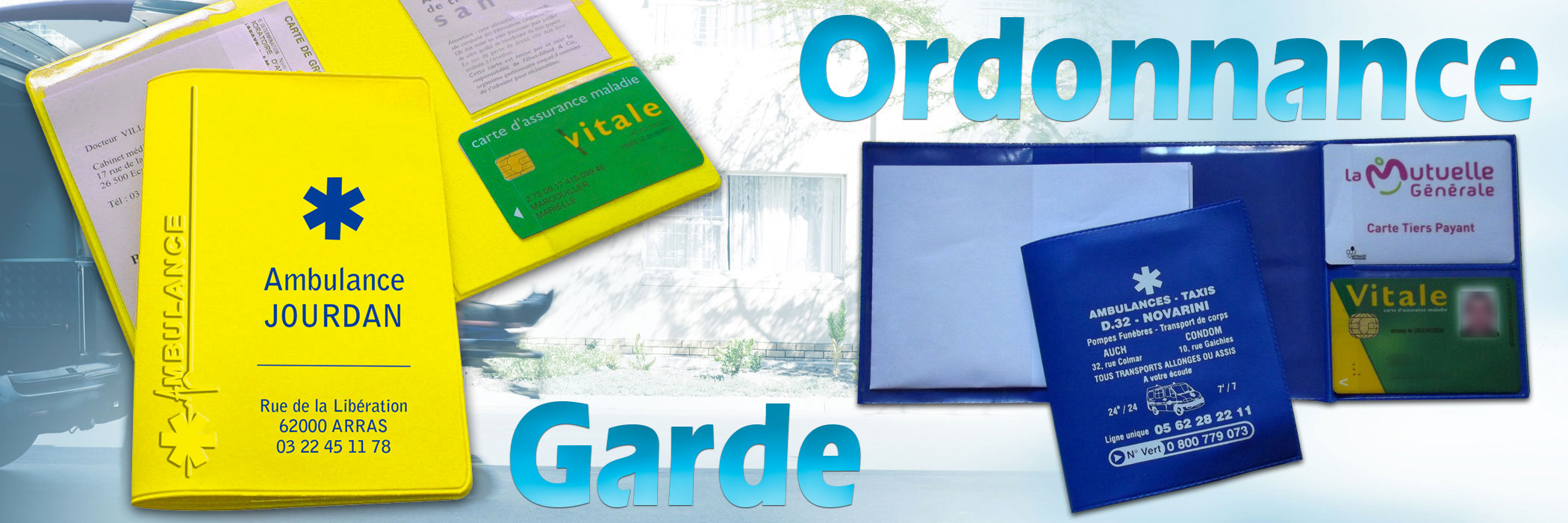 Garde ordonnances et porte-carte vitale