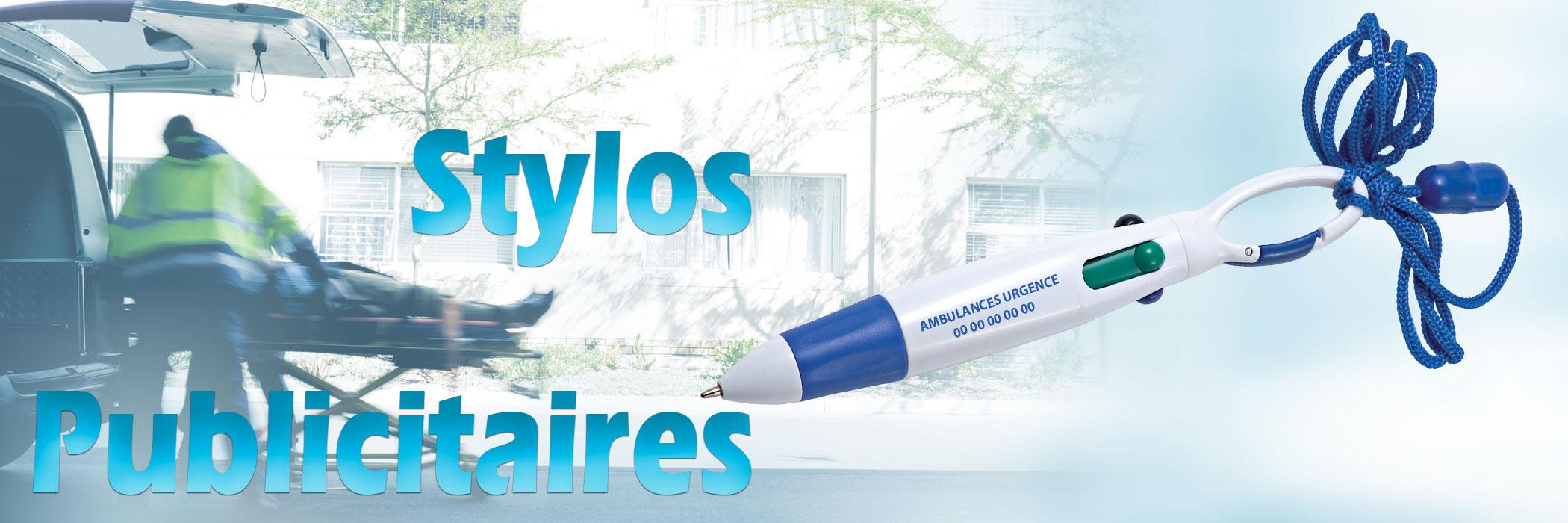 Stylos publicitaires pour les ambulanciers