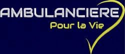 Logo Blanc/Jaune AMBULANCIERE POUR LA VIE - Broderie sur Ambu-Promo