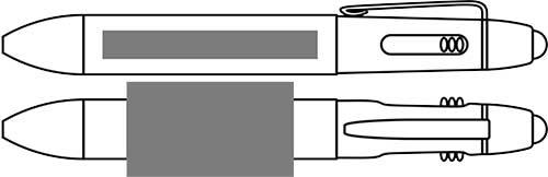 Zones de marquage Stylo 2 couleurs Smartpen - Ambu-Promo